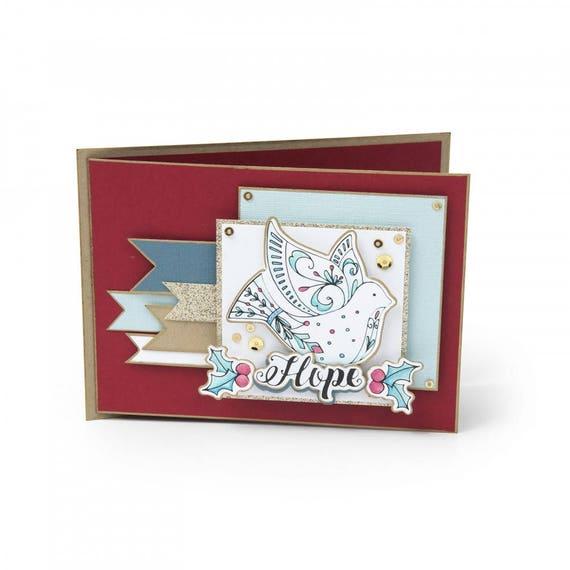 Sizzix Framelits Die Set 4PK w/Clear Stamps - Dove by Katelyn Lizardi 662463