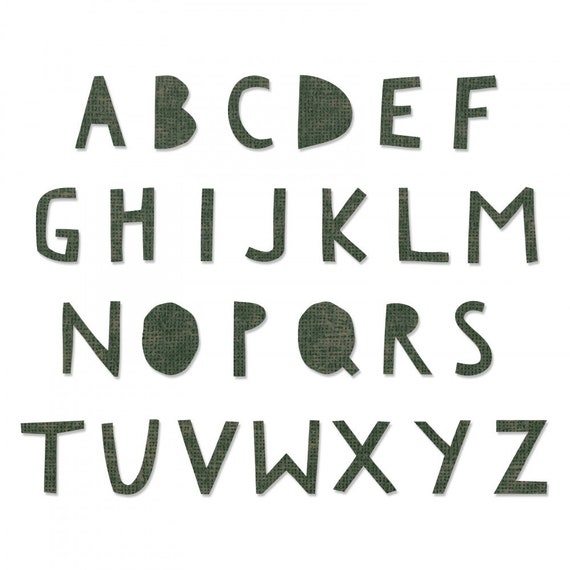 New! Sizzix Tim Holtz Bigz XL Alphabet Die - Cutout Upper 662707