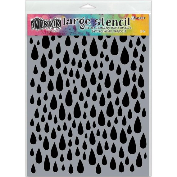 New! Ranger Dylusions TEARDROPS Large 9x12 Stencil by Dyan Reaveley