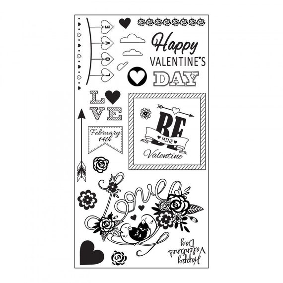 Sizzix Clear Stamps - Be Mine Valentine - Valentine's Day Theme 661990