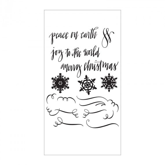 Sizzix Clear Stamps - Seasonal Calligraphy by Sharyn Sowell 661548