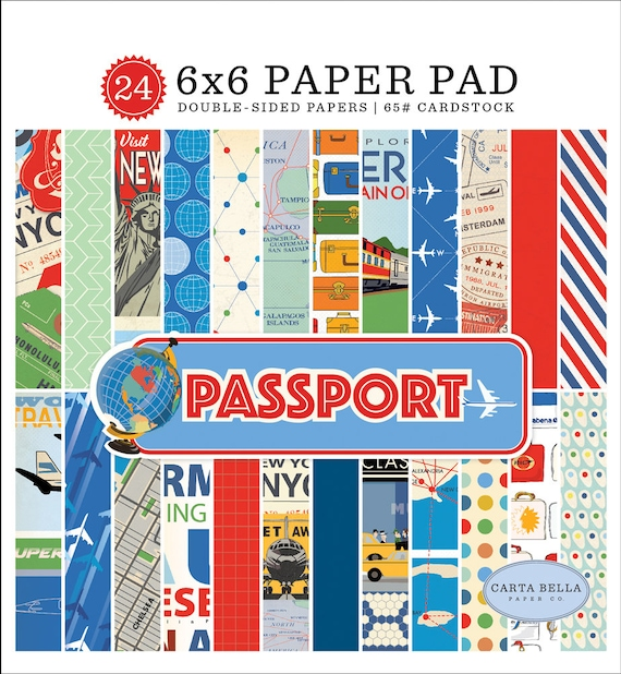 Carta Bella Paper PASSPORT 6x6 Scrapbook Paper Pad (CBPAS84023)