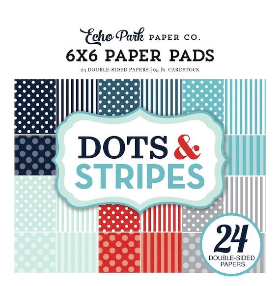 Echo Park Paper DOTS & STRIPES Winter 2017 6x6 Scrapbook Paper Pad (DS170162)