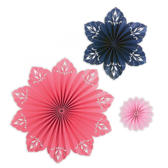 New! Sizzix Thinlits Die Set 2PK - Mandala Fan by David Tutera 663135
