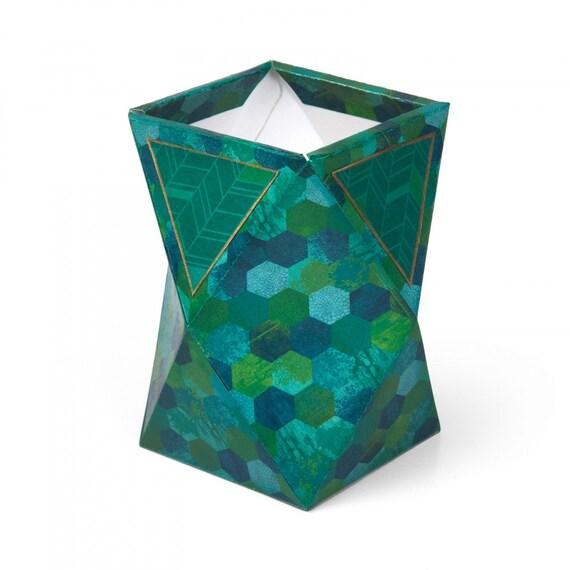 New! Sizzix Bigz L Die - Geometric Holder, Tall 3-D by Lynda Kanase 662787