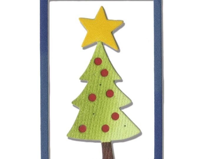 New! Sizzix Thinlits Die - Christmas Tree #2 by Debi Potter