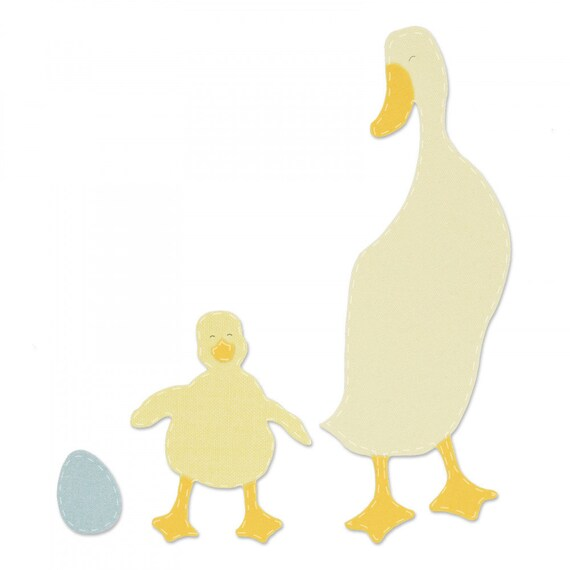 New! (will ship January 24th) Sizzix Bigz Die - Duck & Duckling 663306