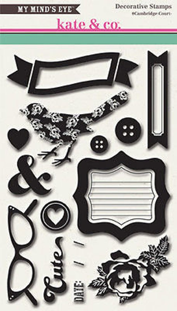 My Mind's Eye KATE & CO - Cambridge Court - Decorative Clear Stamps