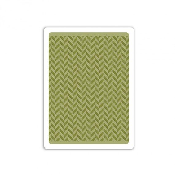 Sizzix Tim Holtz Texture Fades Embossing Folder - Herringbone