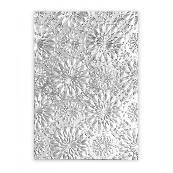 New! Sizzix Tim Holtz 3-D Texture Fades Embossing Folder - Kaleidoscope 663296