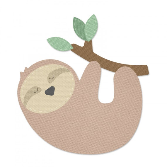 New! (will ship January 24th) Sizzix Bigz Die - Sloth by 663334
