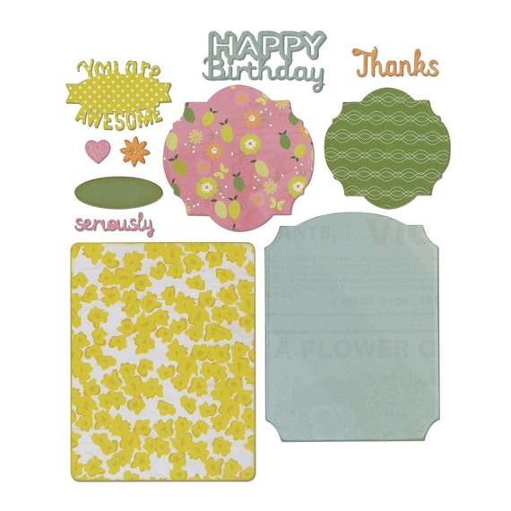 Sizzix Thinlits Die Set 11PK - Card, Basics by Rachael Bright 660649