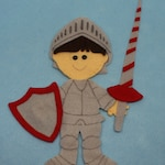 SHOP CLOSING SALE - Outfit For Felt Doll Knight In Shining Armor Dress Up Set Doll Not Included