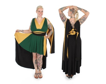 God of Fire inspired Convertible Dress