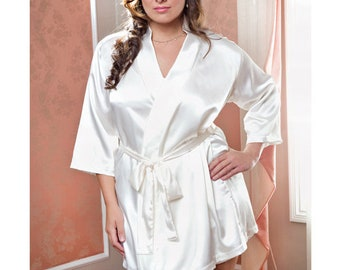 Long White Satin Robe Personalized Long Satin Bathrobe Bride  896afea76