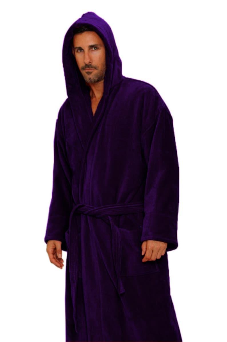 f82e658751 Purple Bath Robe Personalized Monogrammed Bathrobe for Men