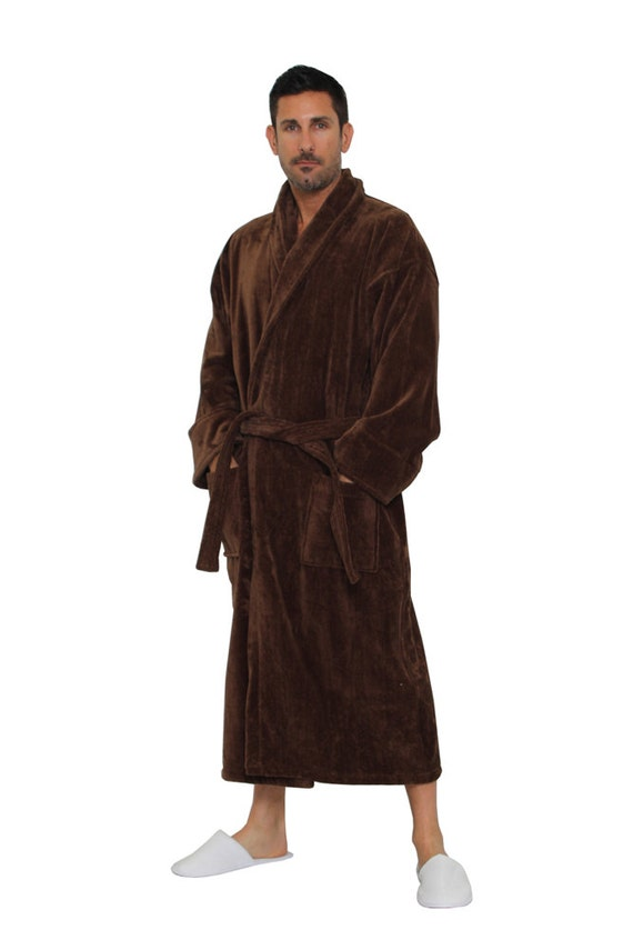 fac39084ae Brown Turkish Cotton Robe Personalized Bathrobe for Men or