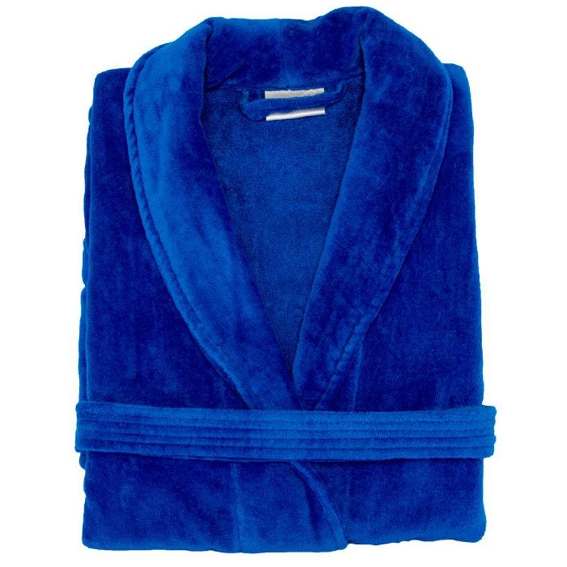 Personalized Men or Womens Bathrobe Royal Blue Turkish Robe
