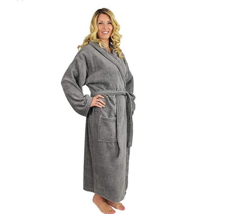 f15fe0dfbb Peignoir à capuche gris personnalisé Robe turque à capuche | Etsy