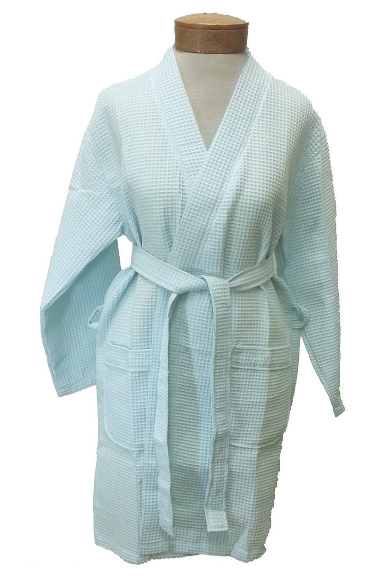 3f1a33241b Light Blue Waffle Robe Light Blue Bridal Robe Bridesmaid