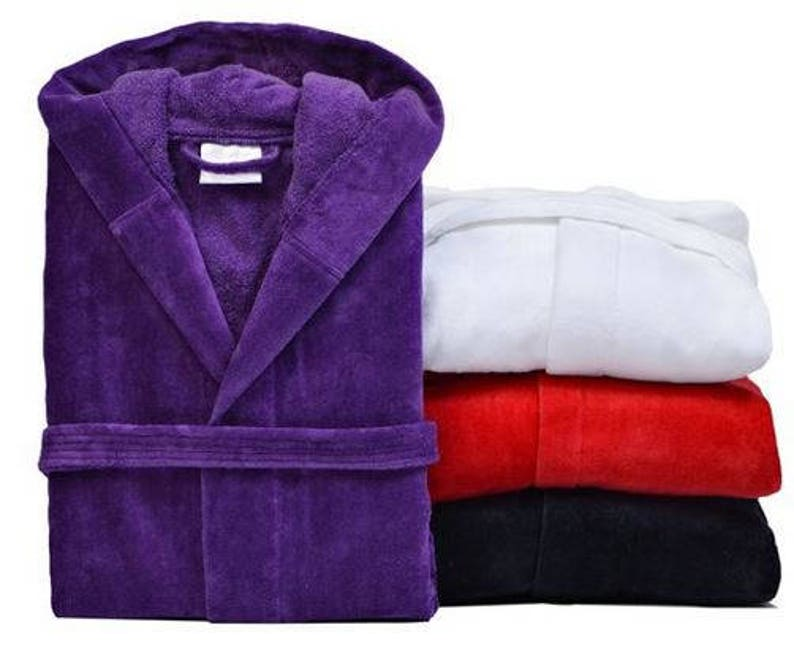 Personalized Hooded Bath Robes 100% Turkish Cotton Hooded  2b9d482e4