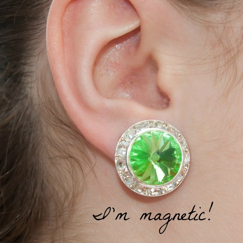 1dfc50d0608fd Magnetic clip earrings, 22 colors, 3/4