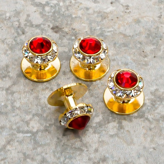 3426c8fad4fa3 25 colors, Crystal shirt studs, gold or silver finish, Tuxedo shirt studs  with Swarovski crystals, Groom Wedding Gift