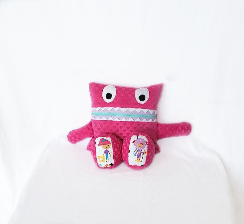 Pink Hearts Career Girl Monster Pajama Eater/ Monster Pajama image 0