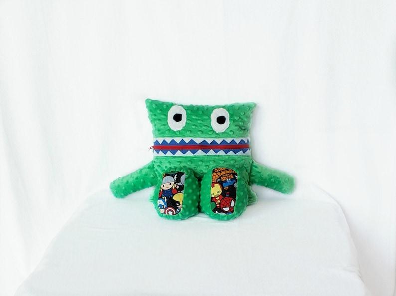Superhero Monster Pajama Eater/ Monster Pajama Holder/ Pajama image 0