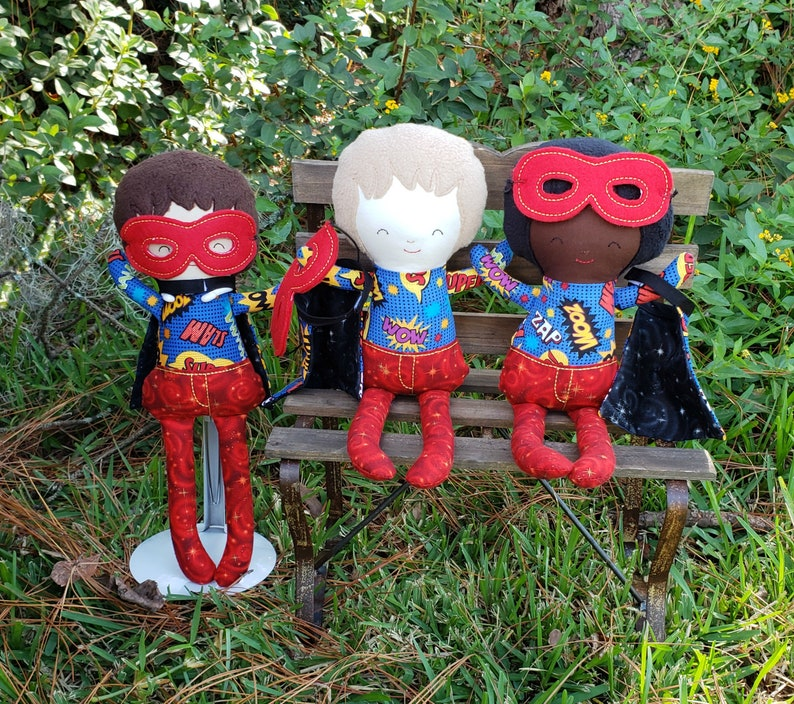 Superhero Doll/ Sidekick Wanted/ Stuffed Toy/ Secret Keeper image 0