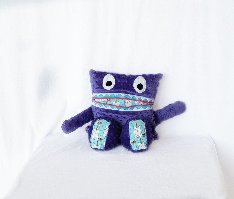 Purple Cat Unicorn Monster Pajama Eater/ Monster Pajama image 0