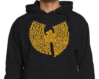 Gold Wu Tang Clan Logo | 20 Year Anniversary Hoodie | RZA GZA The Chef Method Man | Rap Greatest Ever | Old School Hip Hop