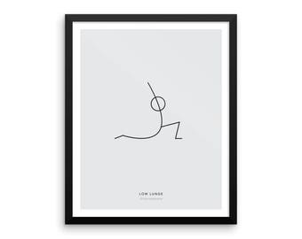 Yoga Pose Poster - Low Lunge Pose : Physical Print