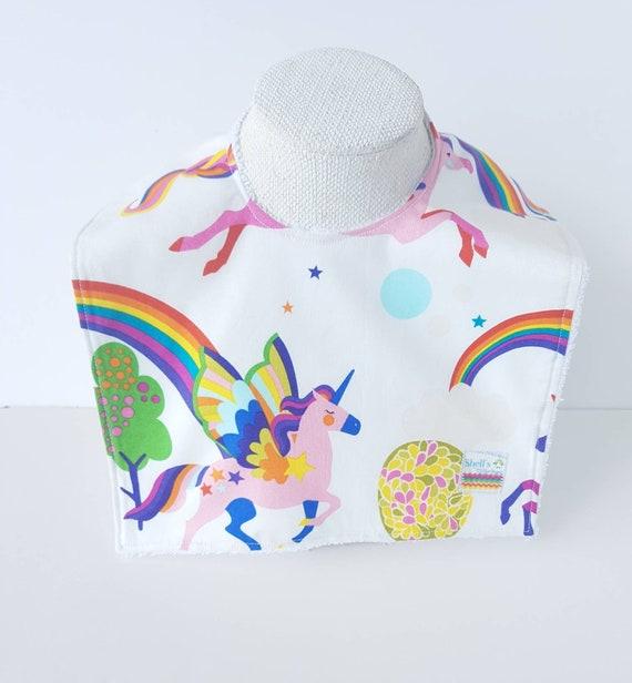 Unicorn Dribble Bib Bib Bandana Dress Baby Food Rainbow Fabric
