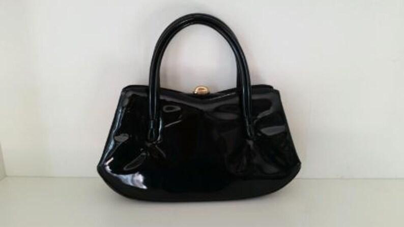 949c00ea7685f Vintage Glam Mad Men Black Midcentury Mod Hollywood Regency | Etsy