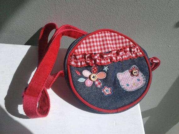 d12b59c2b85 Vintage Hello Kitty Kawaii Girl s Tween Canteen Handbag   Etsy