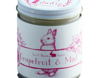 Grapefruit & Mint Scented All Natural Aromatherapy Candle | Coconut Soy Blended Wax | Toxin Free