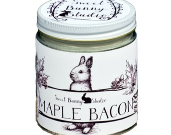 Maple Bacon Scented All Natural Aromatherapy Candle | Coconut Soy Blended Wax | Toxin Free