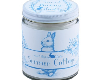 Summer Cottage Scented All Natural Aromatherapy Candle | Coconut Soy Blended Wax | Toxin Free