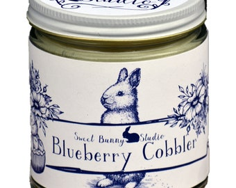 Blueberry Cobbler Scented All Natural Aromatherapy Candle | Coconut Soy Blended Wax | Toxin Free