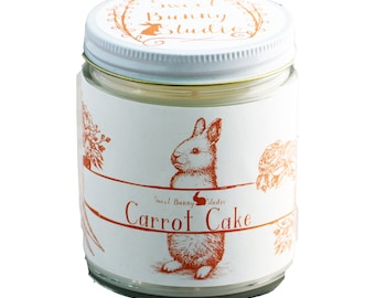 Carrot Cake Scented All Natural Aromatherapy Candle | Coconut Soy Blended Wax | Toxin Free