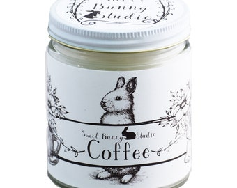 Coffee Scented All Natural Aromatherapy Candle | Coconut Soy Blended Wax | Toxin Free