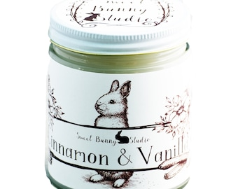 Cinnamon Vanilla Scented All Natural Aromatherapy Candle | Coconut Soy Blended Wax | Toxin Free