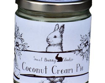 Coconut Cream Pie Scented All Natural Aromatherapy Candle | Coconut Soy Blended Wax | Toxin Free