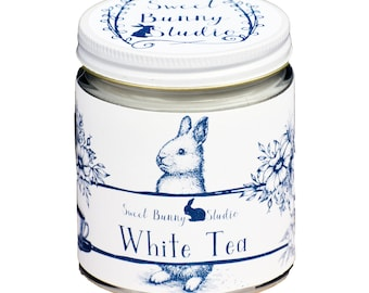 White Tea Scented All Natural Aromatherapy Candle | Coconut Soy Blended Wax | Toxin Free