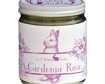 Gardenia Rose Scented All Natural Aromatherapy Candle | Coconut Soy Blended Wax | Toxin Free