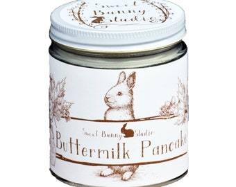 Buttermilk Pancake Scented All Natural Aromatherapy Candle | Coconut Soy Blended Wax | Toxin Free