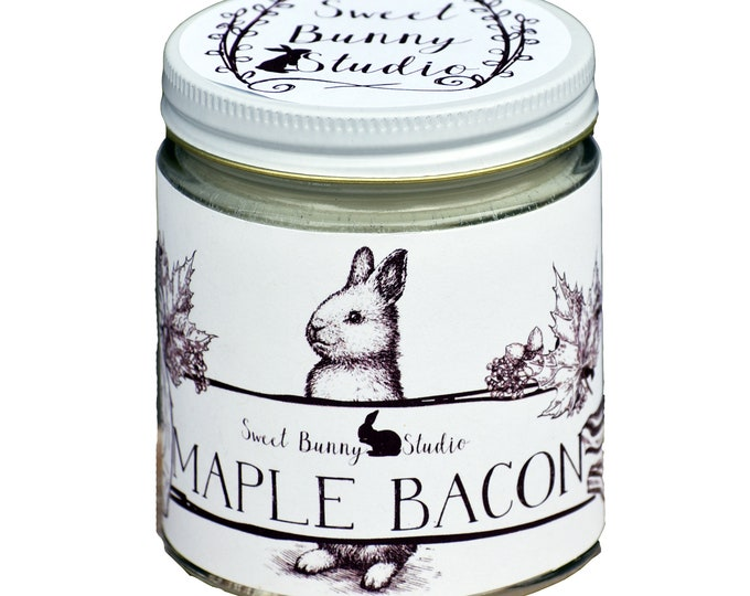Featured listing image: Maple Bacon Scented All Natural Aromatherapy Candle | Coconut Soy Blended Wax | Toxin Free