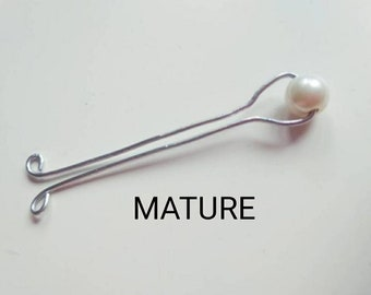 Pearl VCH Piercing Jewelry, Clitoral Jewelry, Clit Clamp, labia Clamp Vaginal Jewelry Non Piercing , DDLG Fetish Adult sex toys Mature bdsm
