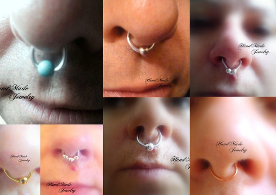 Fake Septum Ring Body Jewelry Non Piercing Fake Septum Nose Etsy
